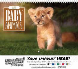 Baby Animals Wall Calendar Spiral