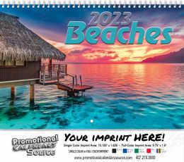 Scenic Beaches Wall Calendar  - Stapled