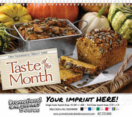 Taste of the Month Wall Calendar  Spiral