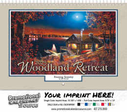 Woodland Retreats Wall Calendar  - Spiral