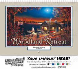 Woodland Retreats Wall Calendar  - Spiral