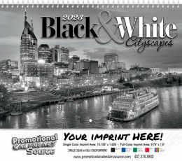 Black & White Wall Calendar  - Spiral