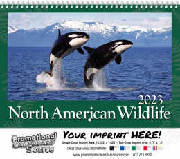 North America Wildlife Wall Calendar  - Spiral