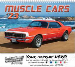 Muscle Cars Wall Calendar  - Spiral