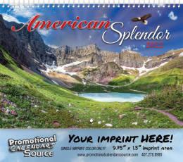 America Splendor Wall Calendar  - Spiral