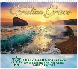 Christian Grace Wall Calendar  - Spiral, Metallic Foil Stamped Ad
