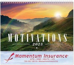 Motivations Calendar with Foil Stamped Ad & Spiral Binding