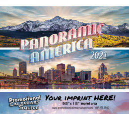 Panoramic America Wall Calendar 2019 - Stapled, Metallic Foil Stamped Ad, Scenic Calendar