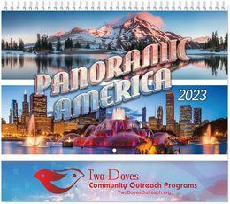 Panoramic America Wall Calendar 2020 - Spiral, Metallic Foil Stamped Ad, Scenic America Calendar