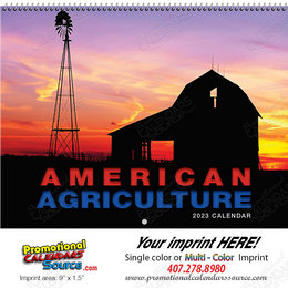 American Agriculture  Wall Calendar - Spiral