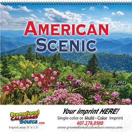 American Scenic Promotional Wall Calendar  Spiral