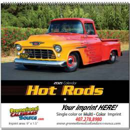 Hot Rods Promotional Wall Calendar  Spiral