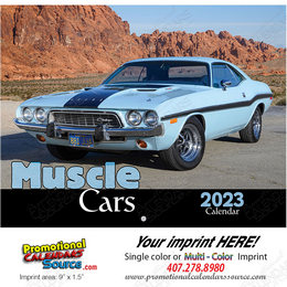 Muscle Cars Promotional Calendar  - Stapled