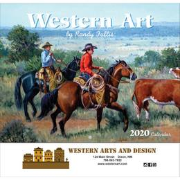 Western Art Promotional Calendar Stapled