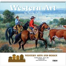 Western Art Calendar with Spiral Binding