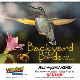 Backyard Birds Wall Calendar, Spiral
