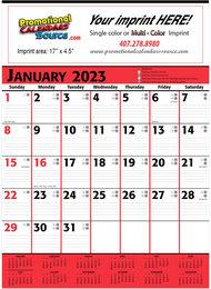 Commercial Planner Calendar Red & Black