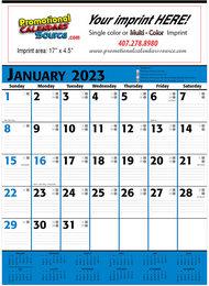 Commercial Planner Calendar Blue & Black