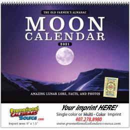 The Old Farmers Almanac Moon Calendar, Spiraled