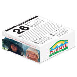 Desk Calendar Cube 4-Color Side Ad Copy - 3 Months on Page