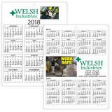 Plastic Wall Calendar 8.25x11 Full Color Imprint 2 Sides