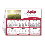 Custom Double Sided Calendar Tent Card  Printed in 4-Color Process 4x3