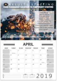 Custom Single photo wall calendar, stapled pad, size 11x17