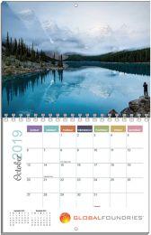 Custom Flip Wall Calendar, Spiral Bound 11x17