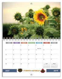 Custom Photo Mini Wall Calendar, Spiral bound 8.5x11