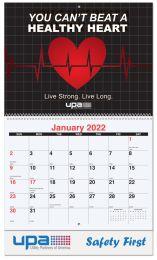Full Color Custom Wall Calendar, Spiral Binding, 13 Full Color Images, Drop Ad Copy
