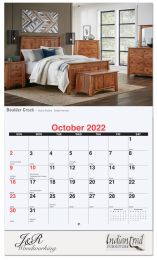 Custom Wall Calendar Full Color Photos Imprint, Stapled Binding, 13 Full Color Images, Drop Ad Copy