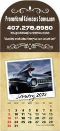 Classic Cars Arch Billboard Adhesive Calendar