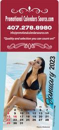 Swimsuit Models Stick-Up Large Square Top Calendar