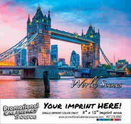 World Scenes - Scenic Promo Calendar - Spanish/English Bilingual