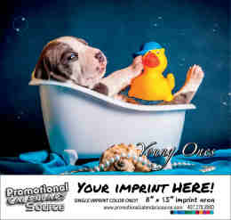 Young Ones - Puppies, Kittens & Kids Calendar - Spanish/English Bilingual