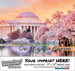 Majestic America Scenic Calendar - Spanish/English Bilingual Calendar