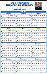Year View Calendar 14x22 with Full-Color Imprint