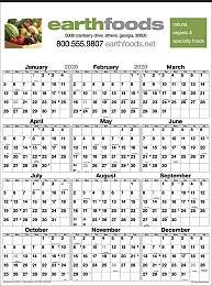Full-Color Year View Wall Calendar Size 18