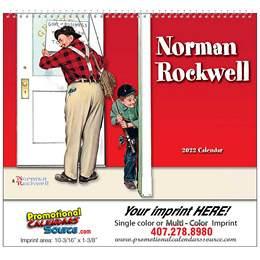 Wonderful World of Norman Rockwell Promotional Calendar  Spiral
