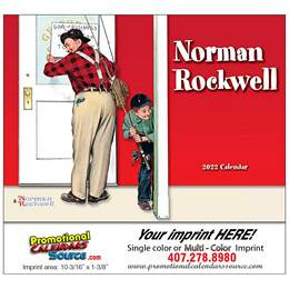 Wonderful World of Norman Rockwell Calendar  - Stapled