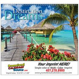Destination Dreams Promotional Wall Calendar  Spiral