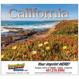 California Promotional Calendar  - Stapled