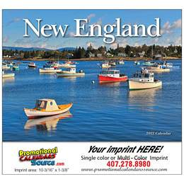New England State Promotional Calendar  - Stapled