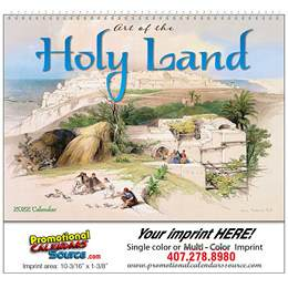 Art of the Holy Land- Universal (Non-Denominational) Wall Calendar Spiral Binding