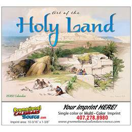 Art of the Holy Land Universal (Non-Denominational) Calendar Stapled