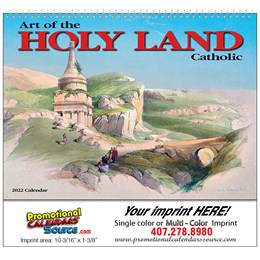 Art of the Holy Land- Catholic Wall Calendar  - Spiral