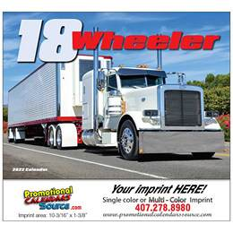 18-Wheeler Promotional Calendar  Stapled