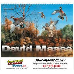 David Maass Wildlife Art Wall Calendar  Spiral