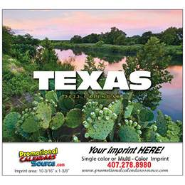 State of Texas Promotional Wall Calendar  Stapled