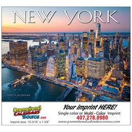 State of New York Promotional Wall Calendar  Stapled